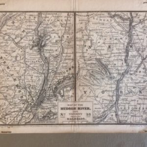 1847 Railroad Map New Jersey and New York