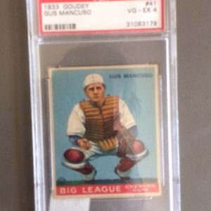 1933 Goudey BB Card Gus Mancuso VG EX 4
