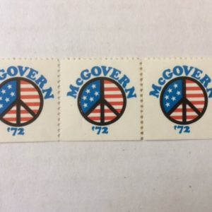3 McGovern Peace Presidential stamps 1972