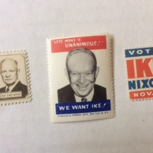 3 diff Ike Campaign Stamps