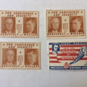 4 rare FDR stamps 1940s