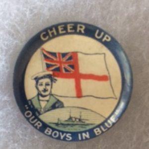 Australia Boys in Blue World War I Pinback