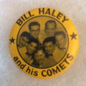 Bill Haley and his Comets Pinback circa 1950s
