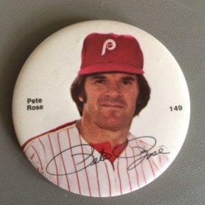 """Large 3"""" Pete Rose Pinback circa 1980"""