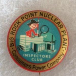 Reddy Kilowatt Nuclear Plant Pinback