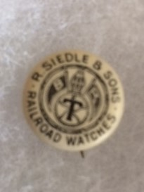 Siedle BTR Railroad Watches Pinback old
