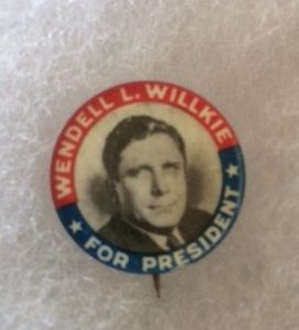 Willkie for President Photo Pinback