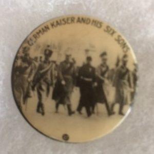World War I Kaiser pinback