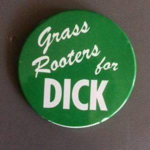 Grass Roots for Dick Nixon pinback 1959