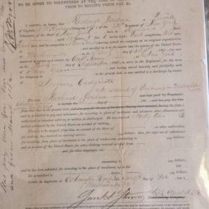 1862 Civil War Union discharge certificate