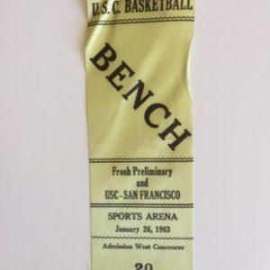 usc ucf basketball ribbon 1963