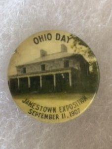 1907 Jamestown Exposition Ohio Day Pinback