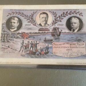1907 Jamestown Exposition Postcard TR front