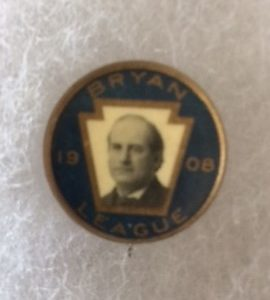 1908 Bryan League pinback