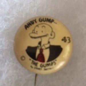 1930s Andy Gump Pinback