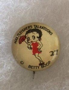 1930s Betty Boop Max Fleisher Talkatoon Pinback