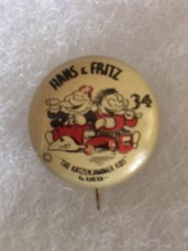 1930s Hans and Fritz Katzenjammer Kids pinback