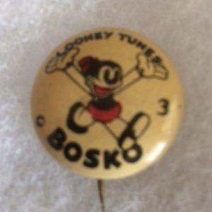 1930s Looney Tunes Bosko Pinback