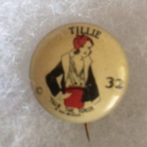 1930s Tillie the Toiler Pinback