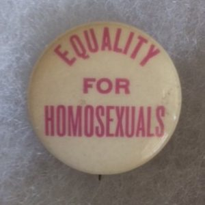 Equality for Homosexuals Pinback