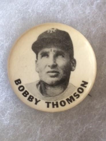 NY Giants Bobby Thomson PInback 1950s