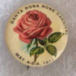 1911 Santa Rosa Rose Carnival pinbak
