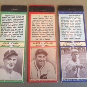 1930s Baseball Player Matchbooks