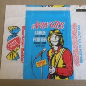Andy Gibb Gum Card Wrapper