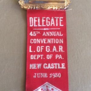 Ladies of GAR New Castle Penna 1930 Convention Ribbon