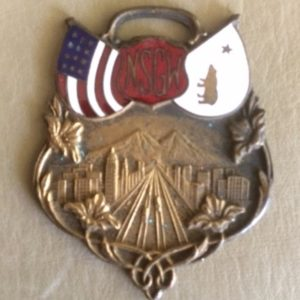 Native Sons of the Golden West Enameled Fob