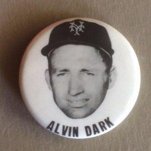 Alvin Dark Baseball Stadium Pinback