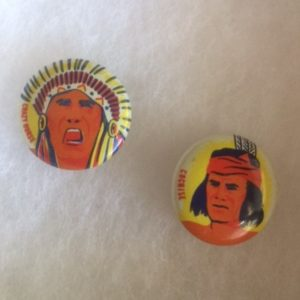 Indian Pinbacks - Cochise and Crazy Horse 1950s