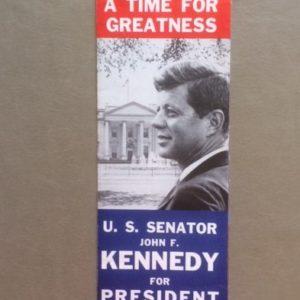 JFK For President 1960 Phamplet closed