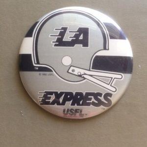 Large USFL LA Express Football Pinback 1983