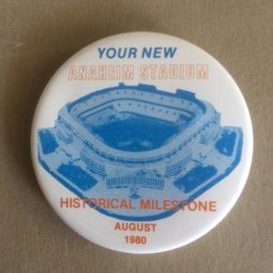 New Anaheim Baseball Stadium 1980 Pinback