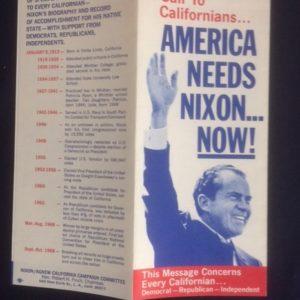 Nixon California 1968 Brochure
