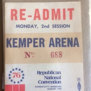 1976 Republican National Convention Ticket