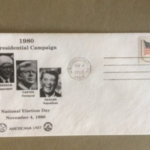1980 Election Day Presidential Campaign Cover