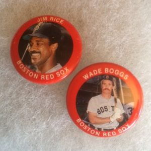 Boston Red Sox Boogs and Rice pinbacks