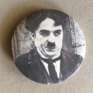 Charlie Chaplin Pinback 1970s