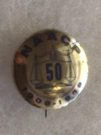 NAACP 1959 50th Pinback
