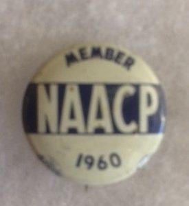NAACP Member 1960 Pinback