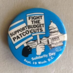 Support PATCO Sept 19th Pinback