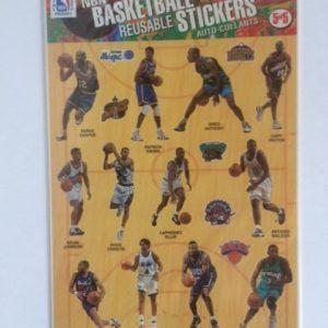 1997 Topps Basketball Sticker Sheet