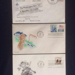 Jimmy Carter envelopes 3 diff