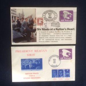Reagan Shot 3-30-1981 envelopes 2