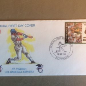 Rollie Fingers First Day Cover 1989