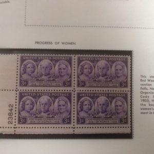 US Postage Block Progress of Women 100 years