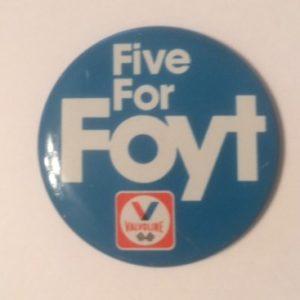 Valvoline Five for Foyt Racing Pinback
