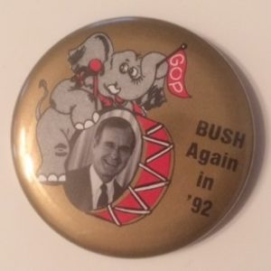 Bush Again in 92 Pinback with Elephant playing drums